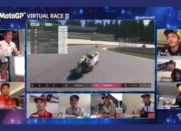 segunda carrera virtual de MotoGP